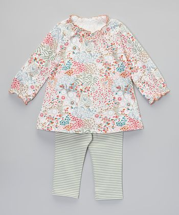Pink Floral Blouse & Leggings - Infant & Toddler