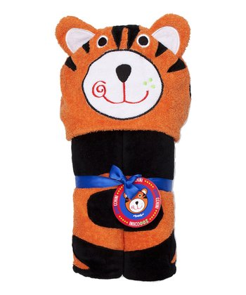 Orange Tiger Hooded Towel