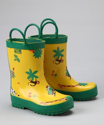 Yellow Safari Rain Boot