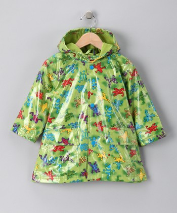 Green Frog Fleece-Lined Raincoat - Infant, Toddler & Boys