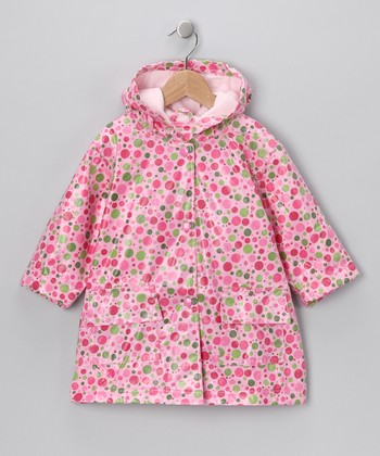 Candy Dot Lined Raincoat - Infant, Toddler & Girls