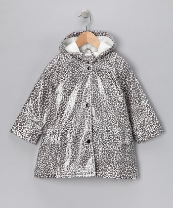Gray Leopard Fleece-Lined Raincoat - Infant, Toddler & Kids