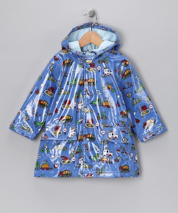 Blue Truck Fleece-Lined Raincoat - Infant, Toddler & Boys