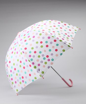 White Polka Dot Umbrella