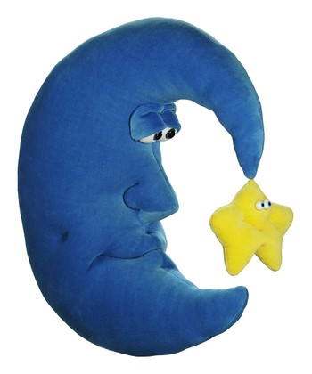 Blue & Yellow Crescent Moon Plush Toy