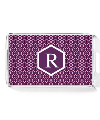 Purple Honeycomb Large Initial Tray