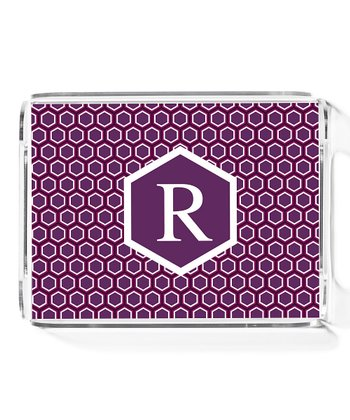 Purple Honeycomb Small Initial Tray