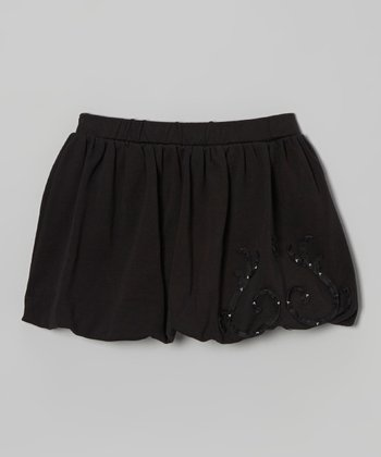 Black Bubble Skirt - Toddler & Girls