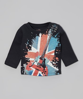 Navy Vintage British Rock Tee - Infant, Toddler & Kids