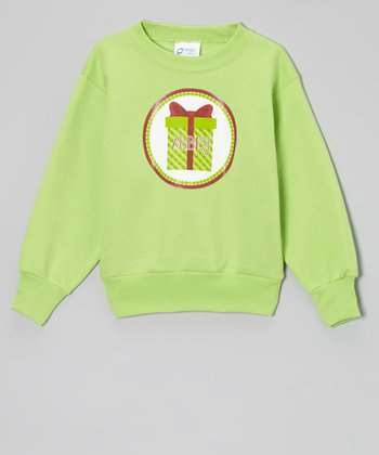 Lime Present Personalized Sweatshirt - Kids