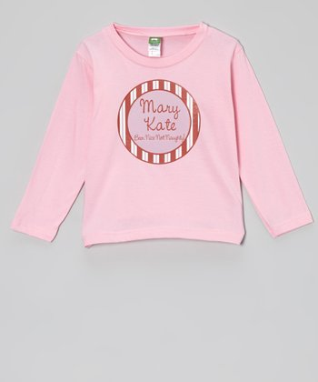 Pink Peppermint Personalized Tee - Infant, Toddler & Kids