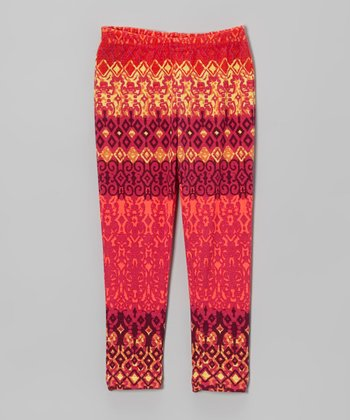 Pink Aztec Leggings - Infant, Toddler & Girls