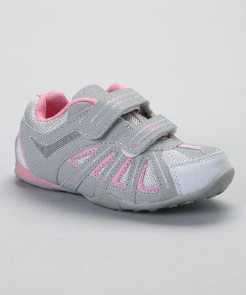 SYKE Light Gray & Pink Mesh Sneaker