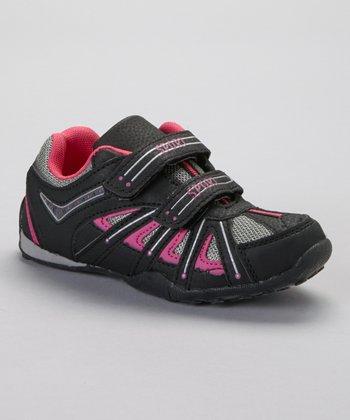 SYKE Black & Fuchsia Mesh Sneaker