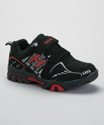 SYKE Black & Red Sport Sneaker