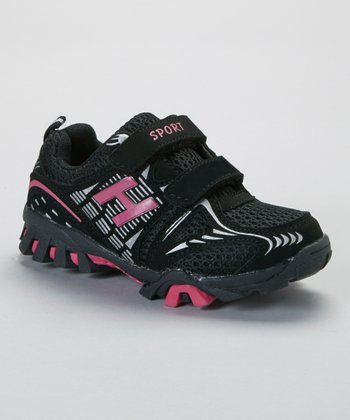 SYKE Black & Fuchsia Sport Sneaker