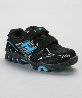 SYKE Black & Light Blue Sport Sneaker