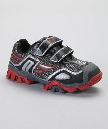 SYKE Black & Red Twin-Strap Running Shoe