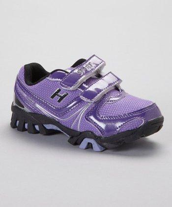 SYKE Purple & Black Textured Sneaker