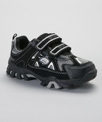 SYKE Black & Silver Mesh Sneaker