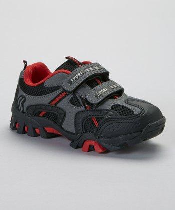 SYKE Black & Red Sporty Sneaker