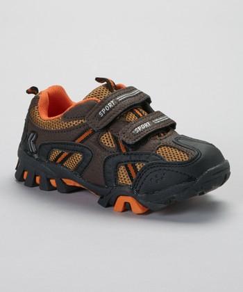 SYKE Black & Orange Sporty Sneaker