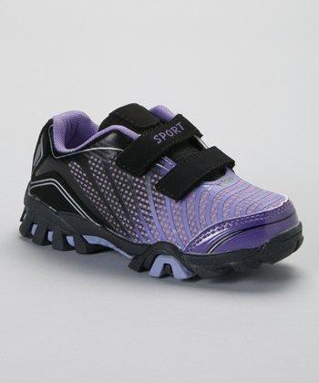 SYKE Black & Purple Ombré Sneaker
