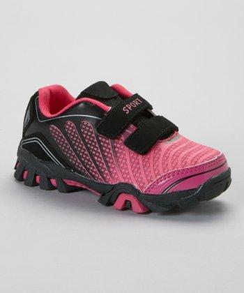 SYKE Black & Fuchsia Ombré Sneaker
