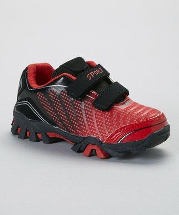 SYKE Black & Red Ombré Sneaker