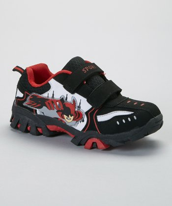 SYKE Black & Red Superhero Sneaker