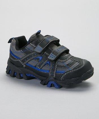 SYKE Dark Gray & Royal Contrast-Stitch Sneaker