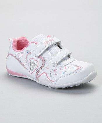 SYKE White & Pink Heart Sneaker