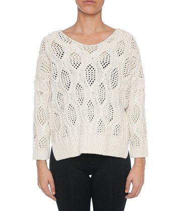 Lavand White Knit Sweater