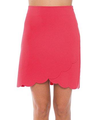 Lavand Salmon Scallop Skirt