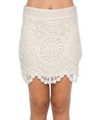 Lavand White Lace Scallop Skirt