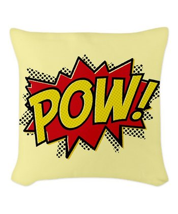 'POW!' Throw Pillow