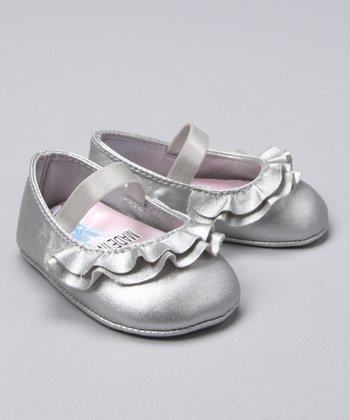 Silver Ruffle Toe Mary Jane