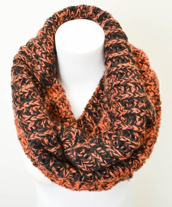Rust Gradation Peppered Infinity Scarf