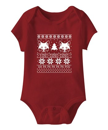 Red 'Ring-Ding-Ding' Bodysuit - Infant