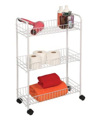 White Small Three-Tier Storage Cart