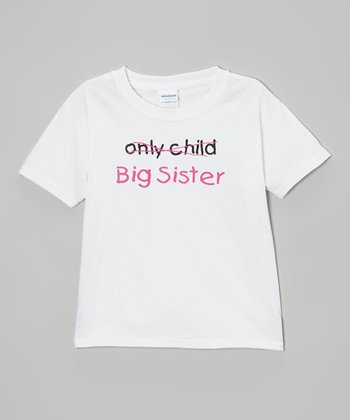 White 'Big Sister' Tee - Toddler & Girls