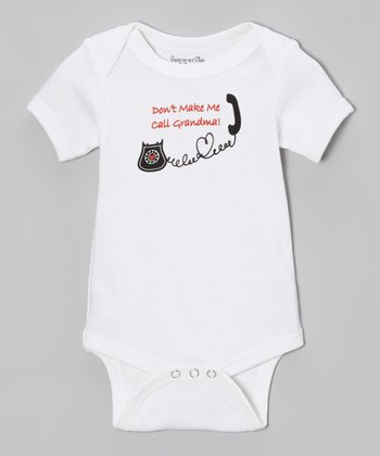 White 'Don't Make Me Call Grandma' Bodysuit - Infant
