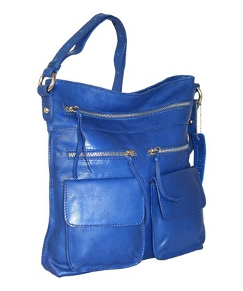 Blue Stroll Around the Town Crossbody Bag
