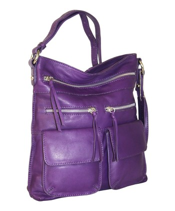 Viola Stroll Around the Town Leather Crossbody Bag