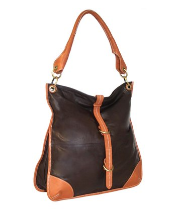 Chocolate Uptown Girl Hobo Bag
