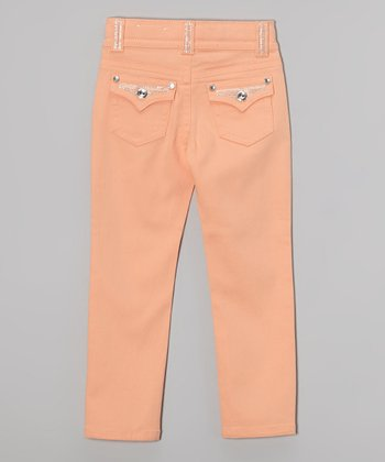 Coral Chill Bling Skinny Jeans