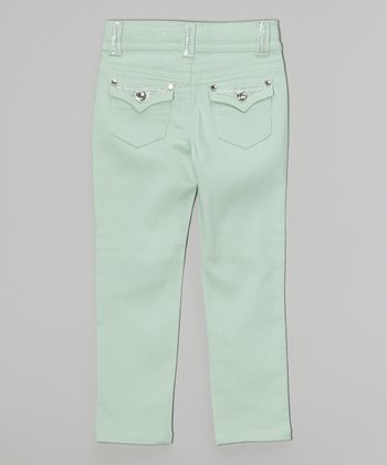 Seaspray Green Bling Skinny Jeans