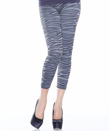 Charcoal Zebra Ahh Comfort Leggings - Women & Plus
