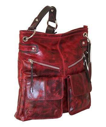 Red Galaxy Crossbody Bag