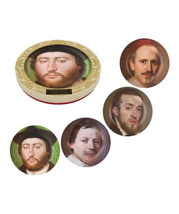 Bearded Men Portraits Side Plate Set